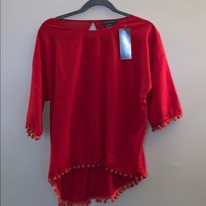 French Connection size Medium red top BNWT